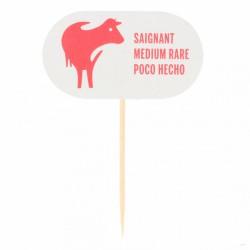 "Steak marker ""saignant"" carton (x100)"