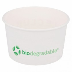 Pot à glace biodegradable