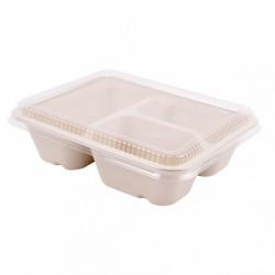 Boîte 3 compartiments avec couvercle
