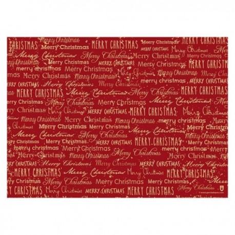 set de table rouge pour Noel