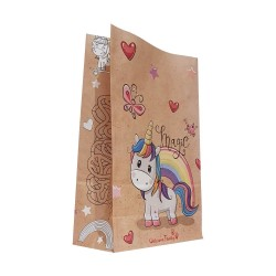 Sachet Kraft - Modèle : Licorne
