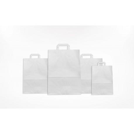 Sac blanc poignées plates personnalisable avec logo