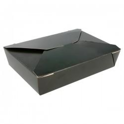 boite repas noir en carton pour plat à emporter