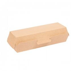 Coquille Hot Dog en carton marron