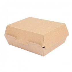 Lunch box en carton marron