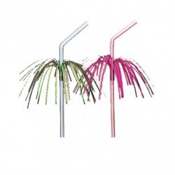Paille flexible Palmier (x100) - Taille : 26 cm