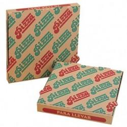 boite à pizza marron en carton