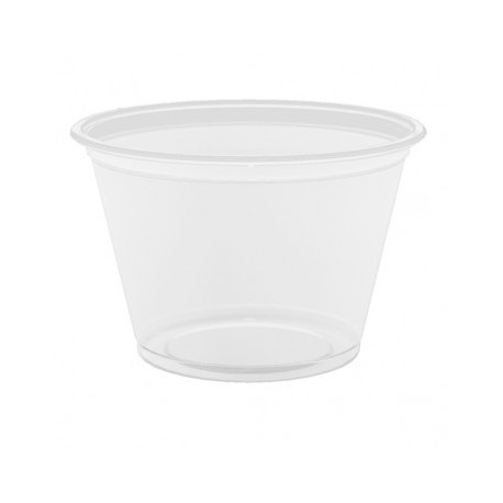 Petit pot en plastique transparent (x2 500)