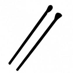 Paille cuillère (x200) - Taille : Ø 0,6 x 20 cm