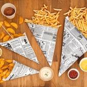Les cornets en papier kraft modèle Times pour vos fritures sont disponibles en plusieurs dimensions ✌🏻🍟    Sans oublier les pots à sauce 👍🏻  #frite #emballage #cornetfrite #potasauce #foodbazar