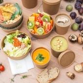 Bientôt le printemps 🌸 et la saison des salades et soupes froides 😍  Anticipez et faites le stock des emballages adéquats 🧐  #emballage #salade #soupe #fournisseur #foodbazar