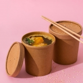 Les pots en carton dispo dans la catégorie Vente à emporter! 👆🏻 . . . . . #pot #emballage #potasoupe #venteaemporter #aemporter #foodbazar