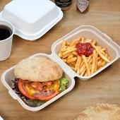 Boîte bionic pour hamburger ! 🍔   Des emballages faits à 100% de pulpe de cellulose naturelle extraite de fibres de canne à sucre.🌿   #emballage #boitehamburger #fournisseur #foodbazar #burger