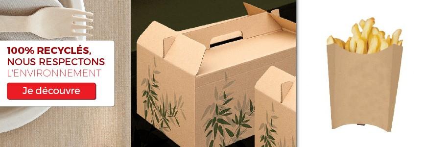 Produits recyclés, respect environnement