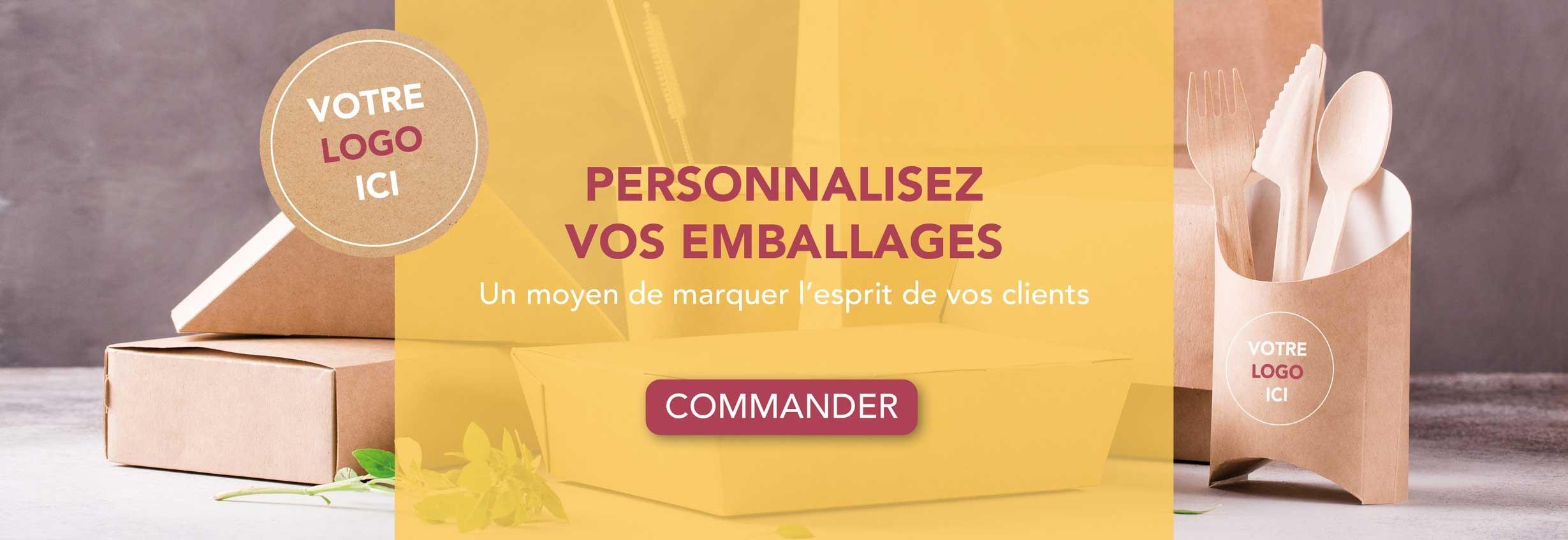 personnalisation emballage avec  votre logo